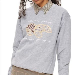 TOPSHOP Tee & Cake Croissant Sweatshirt